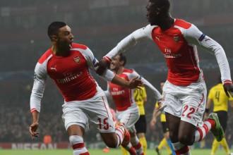 """""""Arsenal"""" apspēlē """"Borussia"""" un garantē vietu 1/8 finālā"""