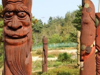 Foto: Fallisko skulptūru parks Dienvidkorejā