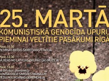 Komunistiskā genocīda upuru piemiņas dienas koncerti un pasākumi Rīgā