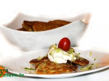 Kartupeļu un kabaču pankūkas