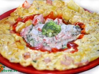 Kabaču omlete ar pārsteigumu
