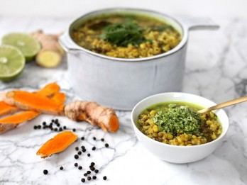 Ajūrvēdas receptes: Kičari ar lēcām, dārzeņiem un garšvielām