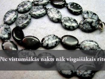 21.februāra dienas akmens- SNIEGA OBSIDIĀNS