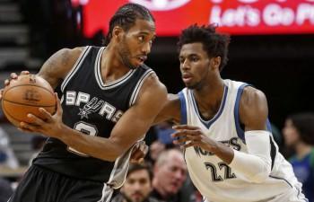"""Lenardam 34 """"Spurs"""" uzvarā pār """"Timberwolves"""", Bertānam trīs minūtes"""