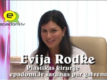 """Video: """"Ar savu ķermeni mums jāsadzīvo ilgāk, nekā ar vīru vai draudzeni.."""": intervija ar plastikas ķirurģi Eviju Rodki"""