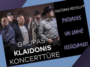 """Piedalies un laimē ielūgumus uz grupas """"Klaidonis"""" koncertu"""