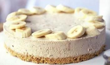 Banānu siera kūka bez cepšanas