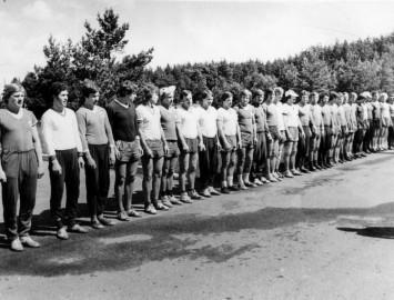 Foto: Viena diena ar Rīgas Dinamo Kandavas nometnē. 1978g