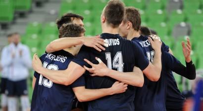 Latvijas izlase trīsarpus setus cienīga pret Portugāli, tomēr noslēdz turnīru piektajā vietā