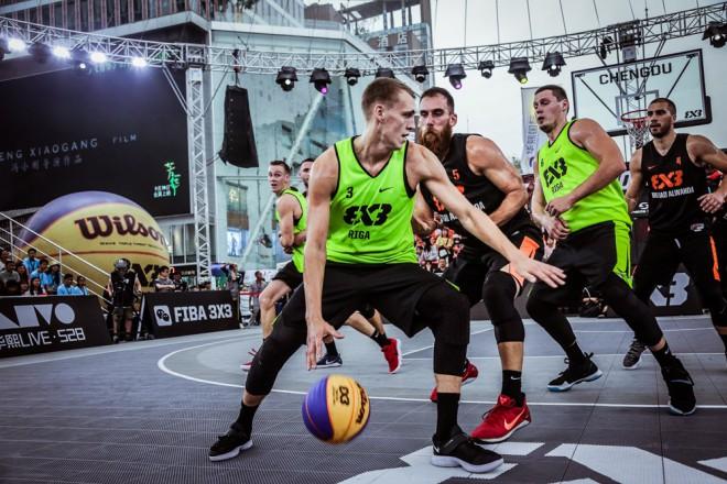 """""""Rīga Ghetto Basket"""" izcīna 3. vietu FIBA 3x3 Pasaules tūres posmā Ķīnā"""