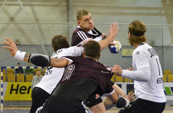 Latvija nosargā pārsvaru pret Igauniju un izcīna pirmo uzvaru Domes kausā
