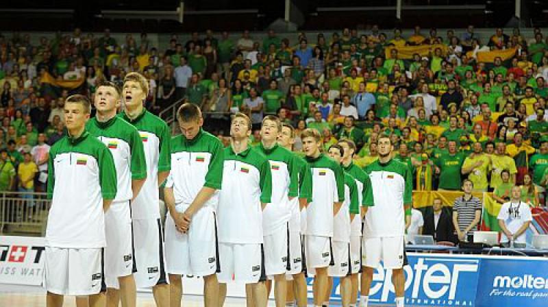 Lietuvas izlase Foto: Romāns Kokšarovs, Sporta Avīze, f64