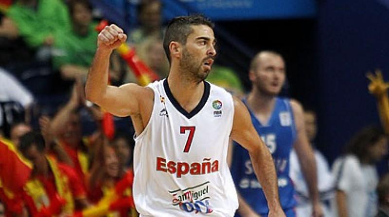 Spānijas valstsvienības kapteinis Huans Karloss Navarro izlasē spēlē divpadsmito vasaru pēc kārtas Foto: www.fibaeurope.com Castoria/Metlas