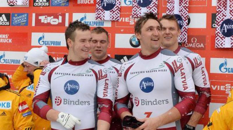 Arvis Vilkaste, Jānis Strenga, Oskars Melbārdis, Daumants Dreiškens Foto: AP/Scanpix
