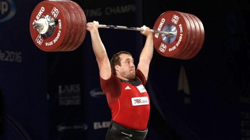 Artūrs Plēsnieks. Foto: European Weightlifting Federation