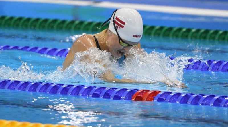 Aļona Ribakova olimpiskajās spēlēs Foto: Romāns Kokšarovs/F64