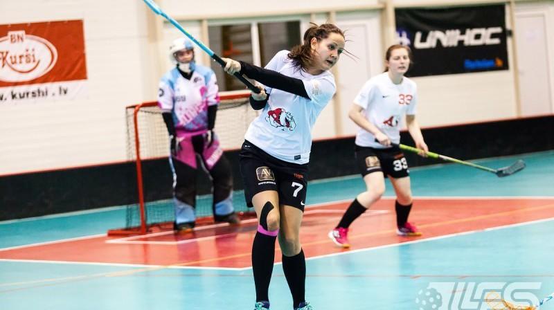 Līga Vancāne Foto: Raivo Sarelainens, floorball.lv