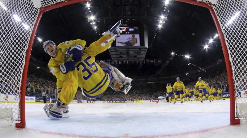 Viljams Nīlanders un Henriks Lundkvists Foto: AP/Scanpix
