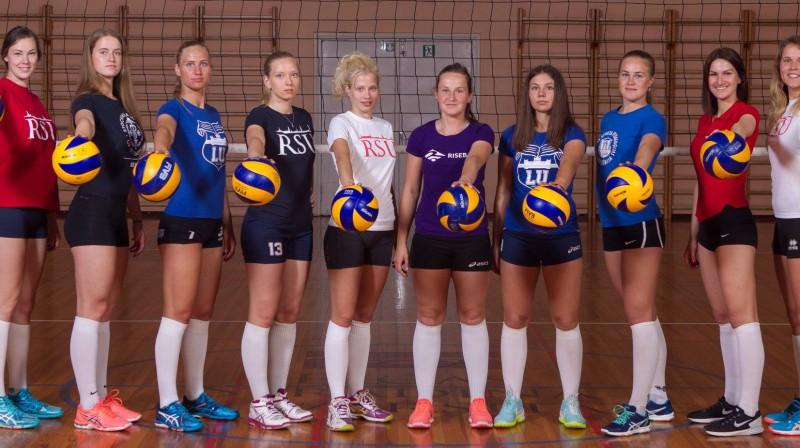 Latvijas volejbola studentes  Foto: Ingunas Minusas Volejbola skola