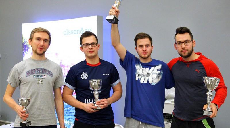 Swedish Masters TOP 4 No kreisās - Yanis Galuzo (Krievija), Alexey Zaharov (Krievija), Maxim Borisov (Krievija) un Edgars Caics (Latvija)
