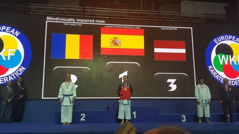 Mārtiņš Vizulis uz Eiropas čempionāta goda pjedestāla