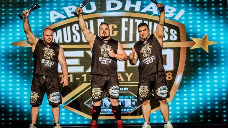 Abū Dabī posma trijnieks Foto: Strongman Champions League