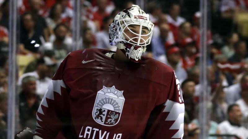 Elvis Merzļikins. Foto: Reuters/Scanpix