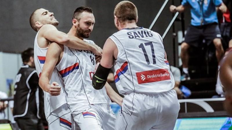 Serbijas 3x3 basketbolisti - četrkārtēji Pasaules kausa ieguvēji Foto: FIBA