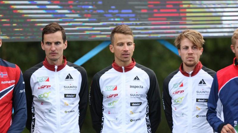 Rūdolfs Zērnis (no labās), Edgars Bertuks un Andris Jubelis Foto: PhotoMiller sports