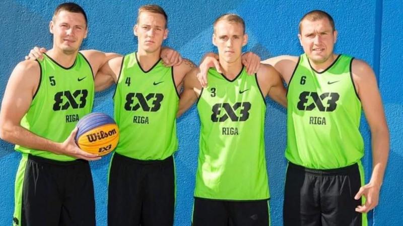 Agnis Čavars (no kreisās), Kārlis Pauls Lasmanis, Nauris Miezis un Edgars Krūmiiņš