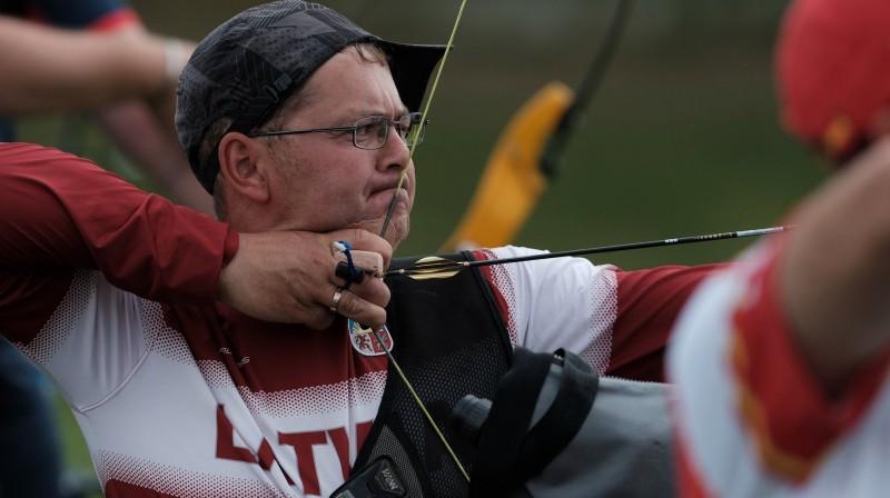 """Gints Jonasts Eiropas čempionātā Foto: Loka šaušanas klubs """"Amazones"""""""