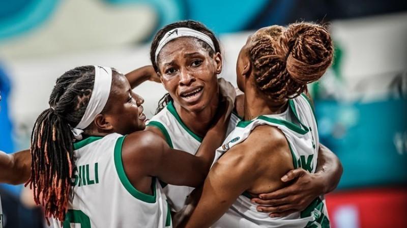 Nigērijas basketbolistes: pirmais Pasaules kausa ceturtdaļfināls Āfrikas vēsturē. Foto: FIBA