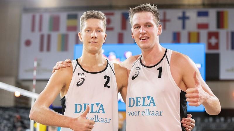 Mihails Samoilovs un Matīss Gabdulļins. Foto: FIVB