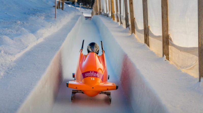 Alvils Brants Sanktmoricas trasē. Foto: Ģirts Kehris