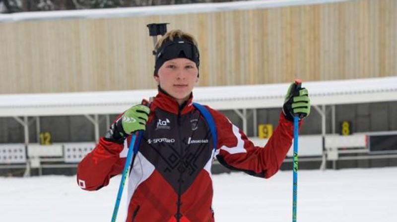 Edgars Mise. Foto: Latvijas Biatlona federācija