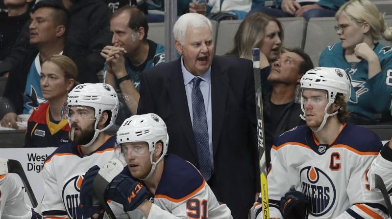 """Kens Hičkoks uz """"Oilers"""" soliņa. Foto: AP/Scanpix"""