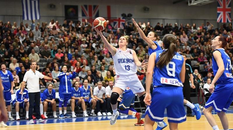 Lielbritānijas līdere Džo Līdhema. Foto: FIBA