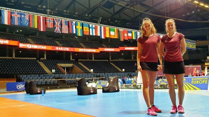 Liāna Lencēviča un Jekaterina Romanova Lietuvā. Foto: Siguldas badmintona klubs