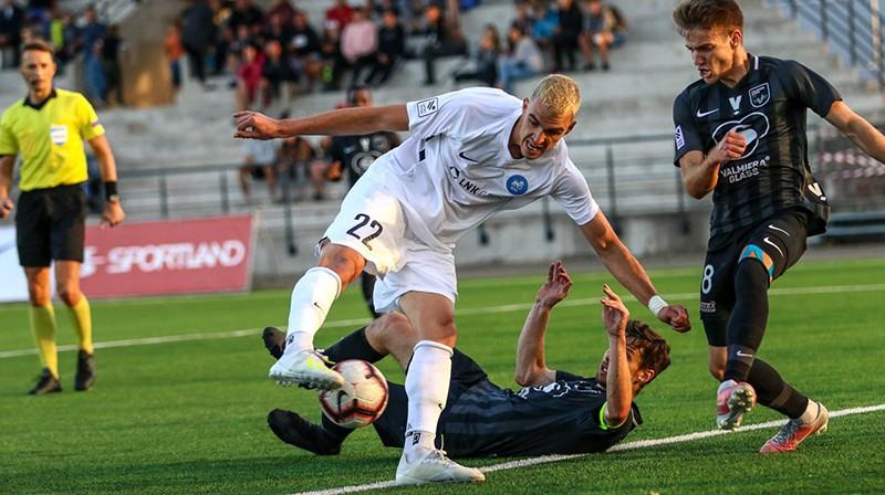 Darko Lemajičs izdara uzvaras sitienu. Foto: Jānis Līgats