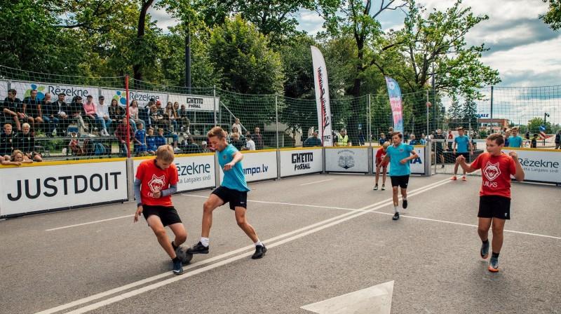 """""""Ghetto Football"""" spēle 3. augustā Rēzeknes svētkos. Publicitātes foto"""