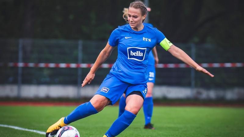 """""""Rīgas Futbola skolas"""" kapteine Viktorija Zaičikova. Foto: Rīgas Futbola skola"""