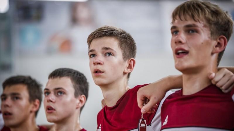 Latvijas U16 izlase. Foto: FIBA