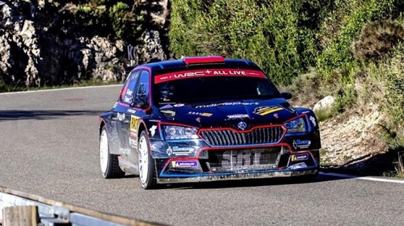 Nikolajs Grjazins uz starta izies ar ''Škoda Fabia R5''