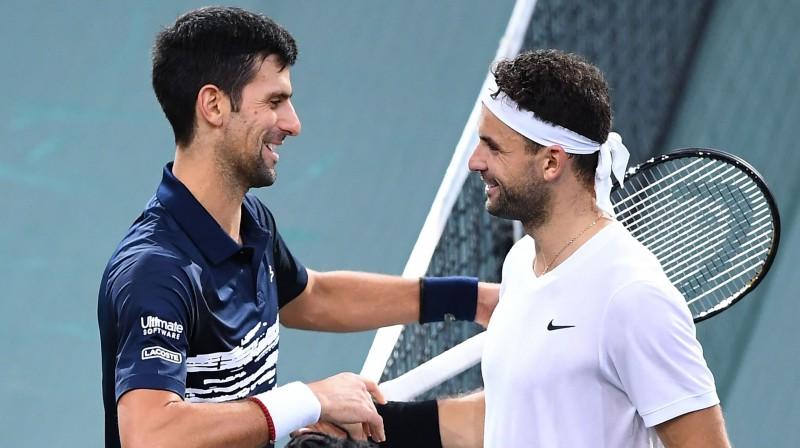 Novaks Džokovičs un Grigors Dimitrovs. Foto: AFP/Scanpix