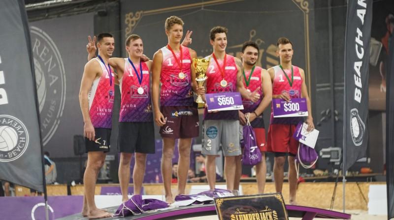 Baltijas Tekvoleja Izaicinājuma kausa laureāti vīriešu grupā. Publicitātes foto