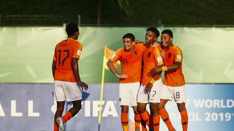Nīderlandes U17 izlases futbolisti. Foto: fifa.com
