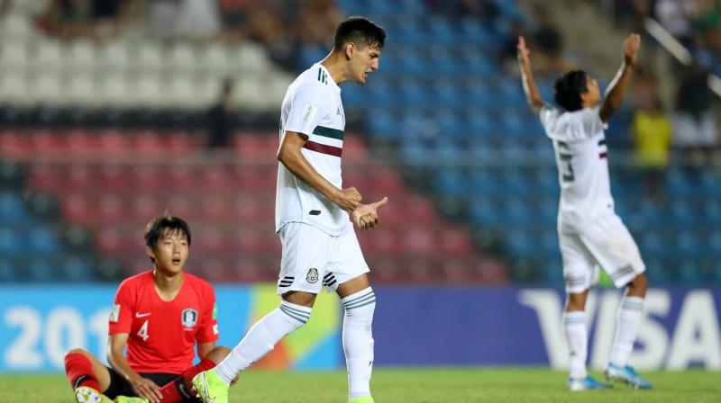 Meksikas U17 izlases futbolistu prieki. Foto: fifa.com