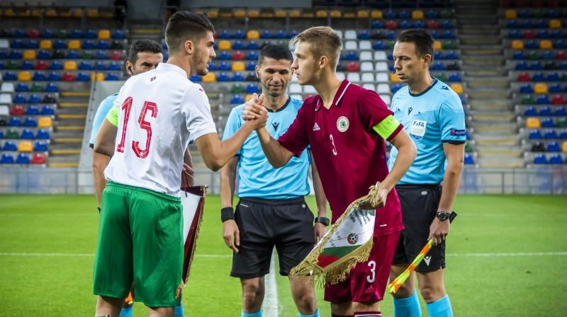 Latvijas U21 izlases kapteinis Daniels Balodis. Foto: Nora Krevņeva-Baibakova/LFF