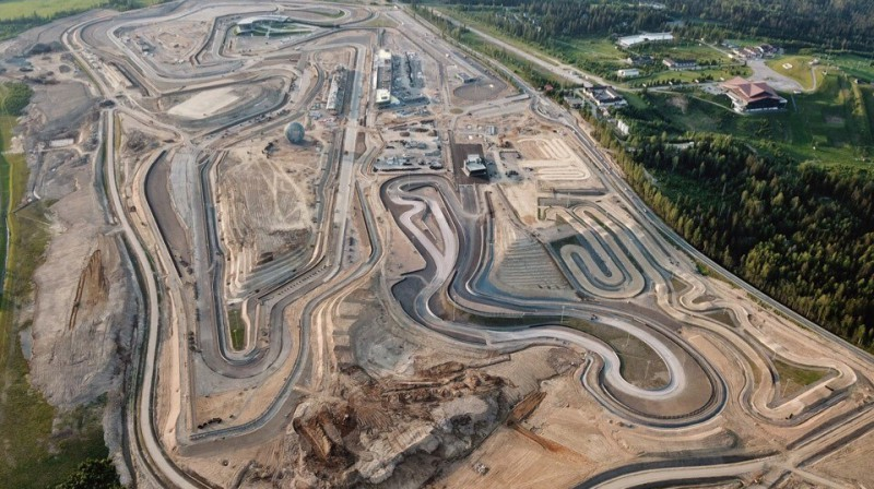 Igora Drive komplekss no putna lidojuma. Foto: Racing Circuits.info