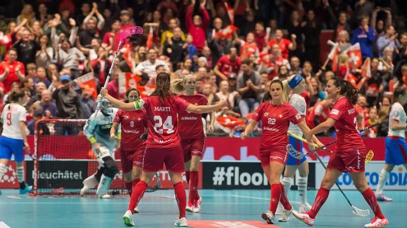 Šveices izlase Foto: IFF Floorball